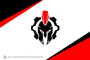 Spartan Machine Logo Template
