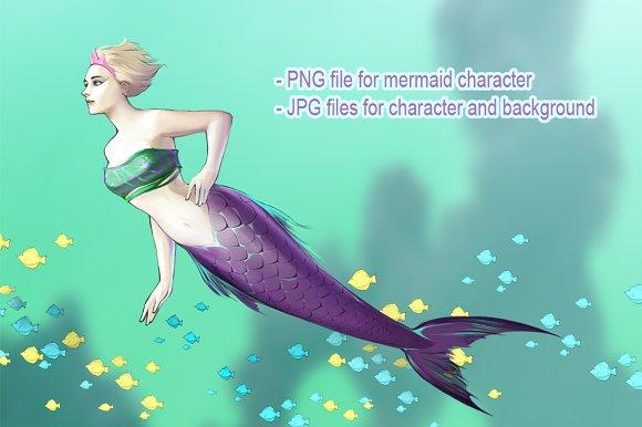 Mermaid Princess in Illustrations