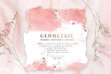 Rose Gold Geometric Watercolor