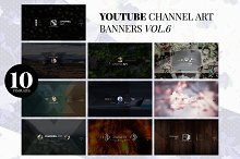 10 Youtube Channel Art Banners vol.6 by  in YouTube