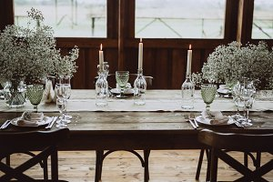 Wedding table decoration rustic stl.
