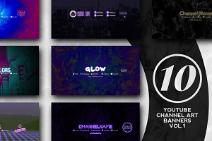 10 Youtube Channel Art Banners vol.1