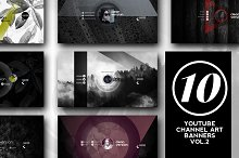 10 Youtube Channel Art Banners vol.2 by  in YouTube