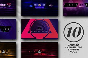 10 Youtube Channel Art Banners vol.3