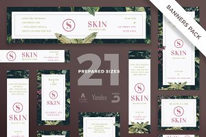 Banners Pack | Skin Care