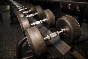 Weights and dumbbells.