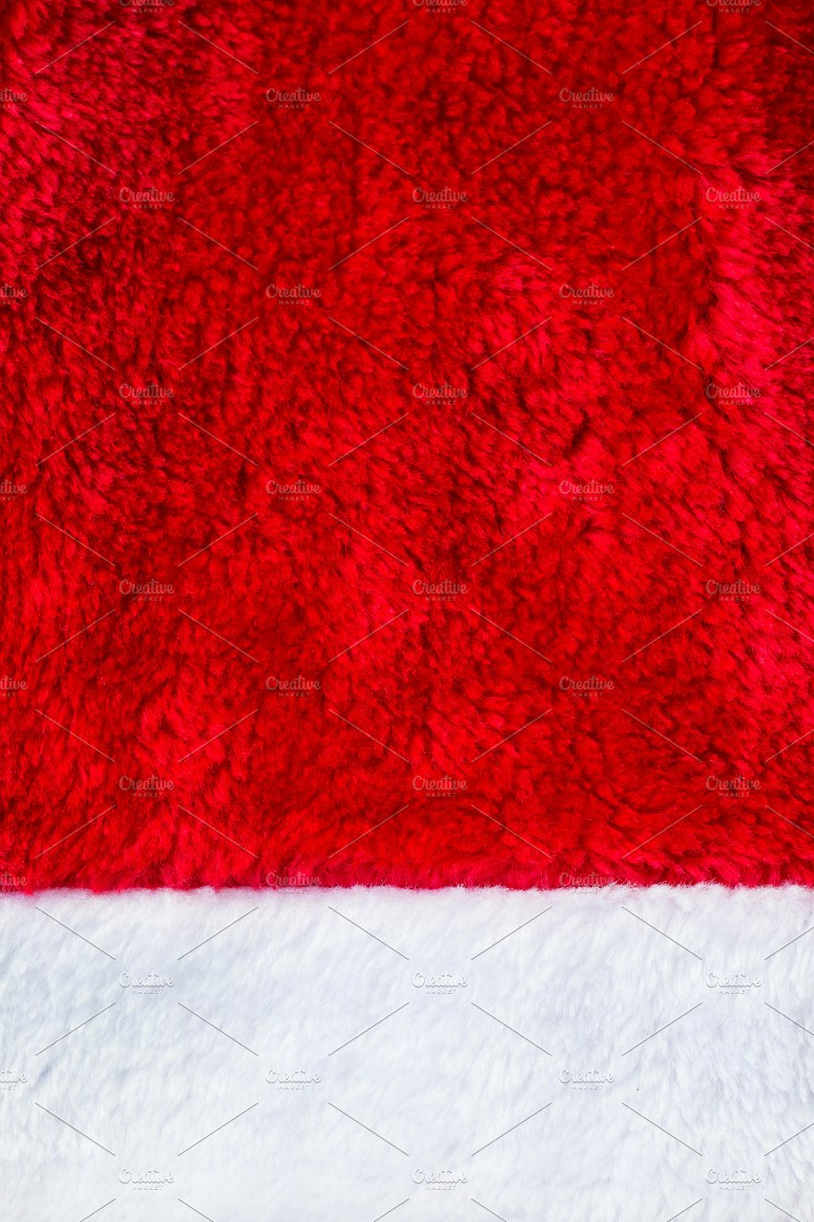 close up red and white santa claus hat texture to backround photos
