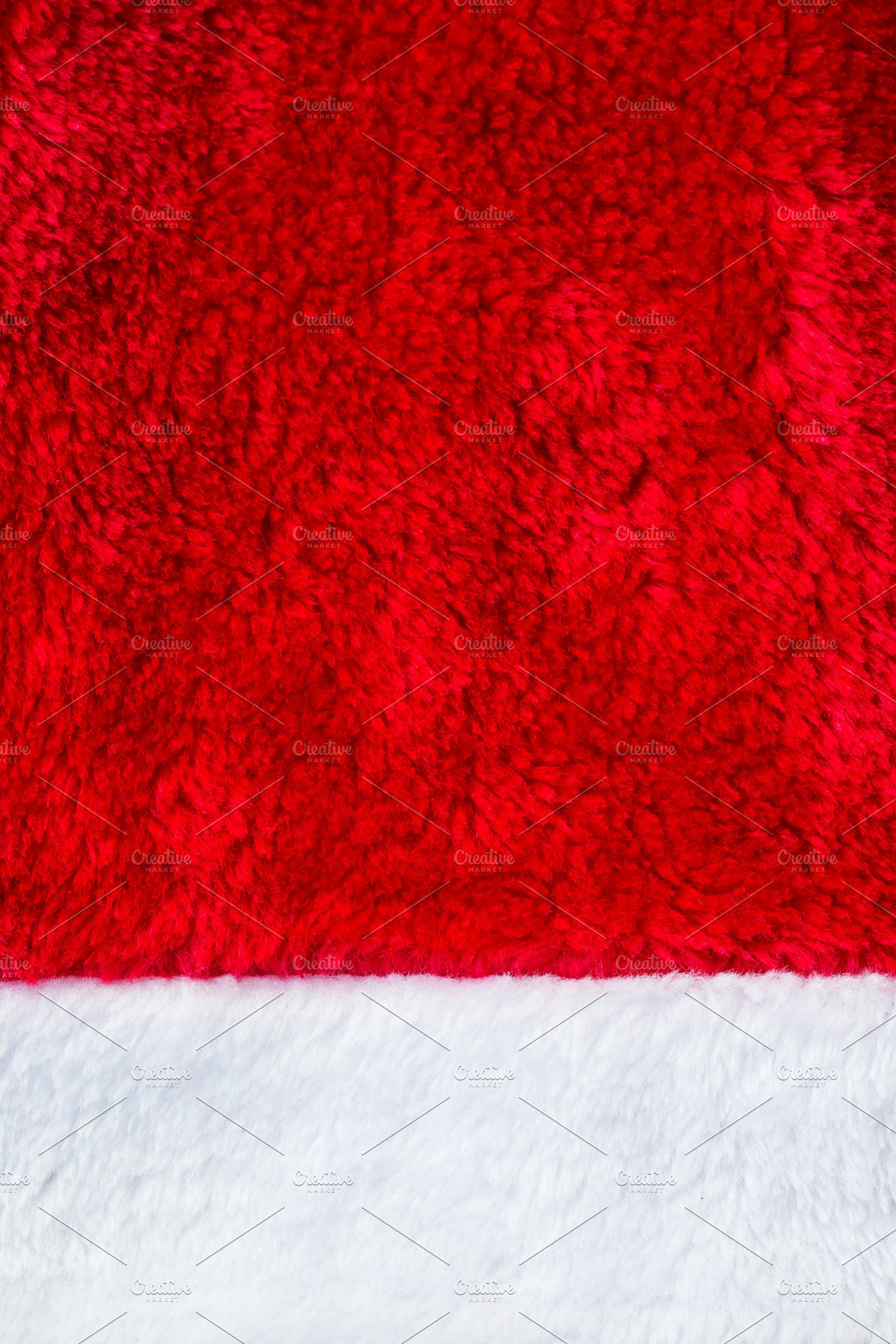 d1f8e3fa18e33 Close up red and white Santa Claus hat texture to backround ~ Photos ...