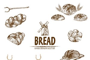 Bundle of 10 bread vectors set 9