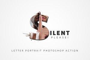 Letter Manipulation Photoshop Action