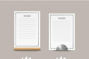 Cafe menu cards