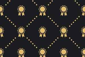 Award badge seamless pattern