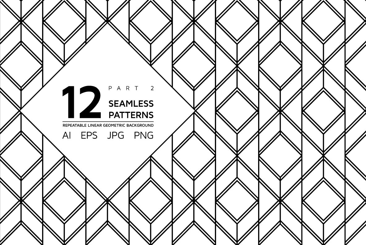 12 linear geometric patterns Part 2 ~ Graphic Patterns