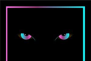 Rainbow gradient scary eyes
