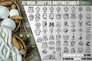 57 Woolcraft or knitting labels
