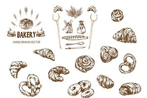 Bundle of 10 bread vectors set 11