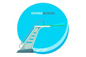 Diving board or springboard used for snorkeling linear flex-spring