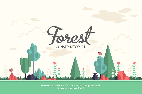Forest Constructor Kit-Graphicriver中文最全的素材分享平台