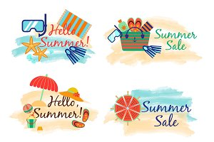 Summer sale labels