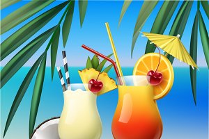 Tequila Sunrise and Pina Colada