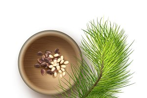 Pile of pine nuts