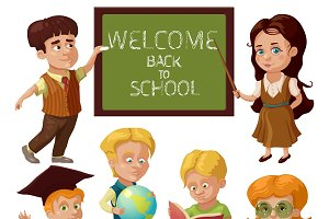 School Characters Set