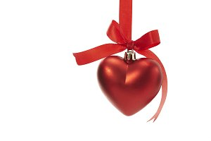 Christmas heart shaped decoration ba