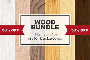 wood vector bundle 50% OFF