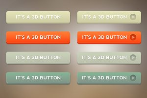 3D Buttons Set
