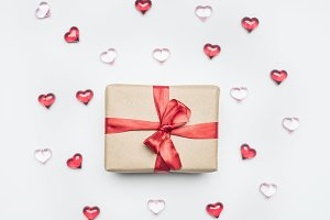Valentine's Day, packing paper, gift