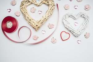 Valentine's day, decorative hearts