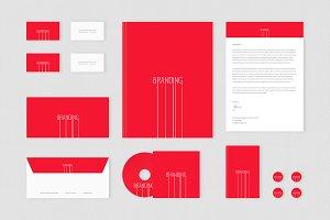 Brand identity Set: Branding Lines