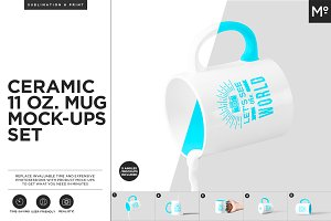 Ceramic 11 Oz. Mug Mock-ups Set