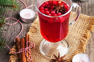 Christmas hot mulled wine