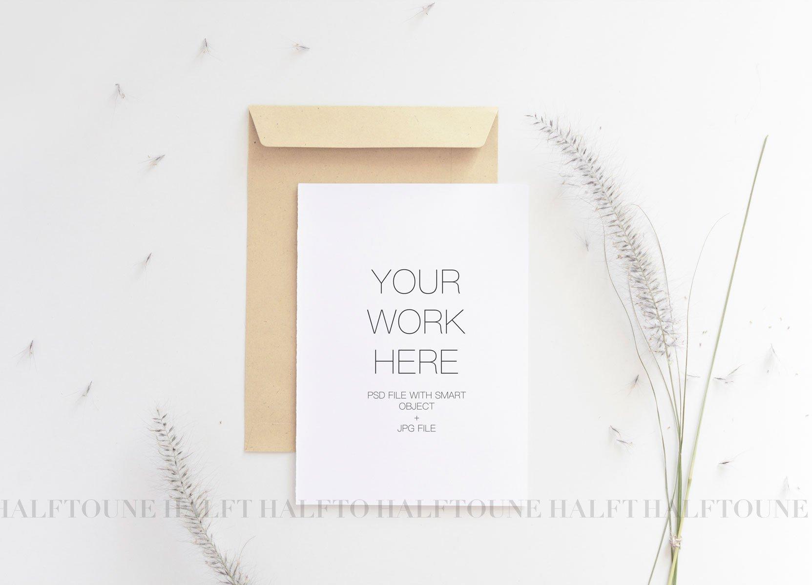 5x7 Wedding Invitation Mockup ~ Graphics ~ Creative Market