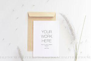 5x7 Wedding Invitation Mockup