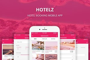 Hotelz - Hotel Booking PSD APP