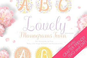 Lovely Monograms Twin + Graphics