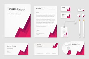 Brand Identity Set: Material Pink