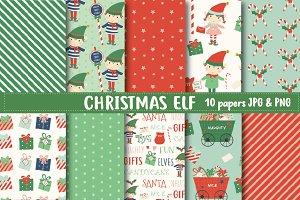 Christmas elf paper