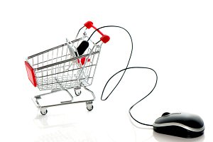 Computer mouse and shopping cart