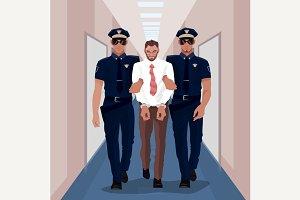 Police officers arrested businessman