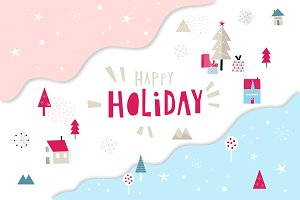 Happy Flat Holiday! Flat design kit
