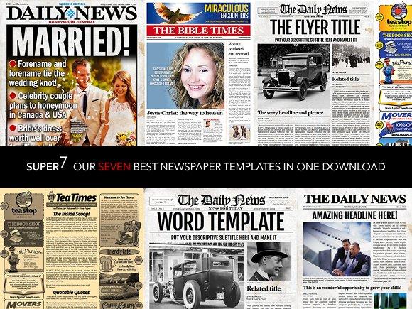 7 Newspaper Style Templates Flyer Templates Creative Market