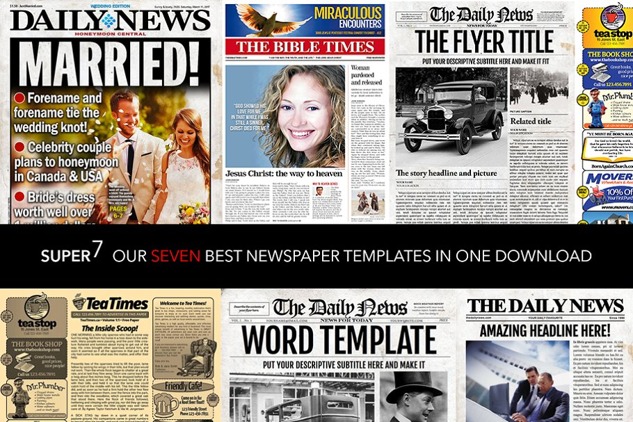 7 Newspaper Style Templates