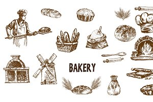 Bundle of 15 bread vectors set 13