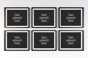 Set 6 black frame mock high res file