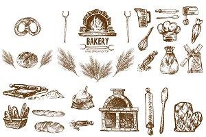 Bundle of 20 bread vectors set 14