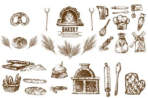 Bundle of 20 bread vectors set 14
