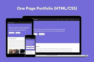 One Page Portfolio (HTML/CSS)